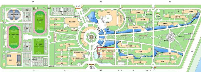 河南科技学院手绘地图